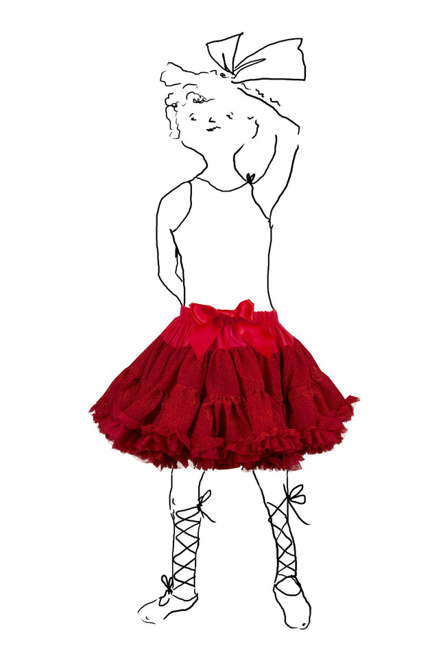 Children's Petticoat - Sparkly Red