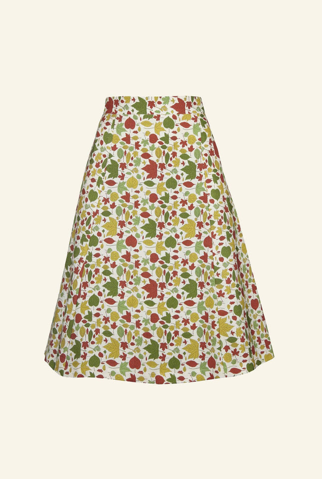 Sylvia - Autumn Leaves Skirt - 100% Tencel