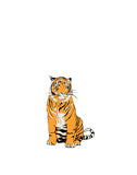 Sitting Up Tiger Wall Sticker - Palava