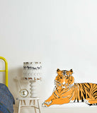 Lying Down Tiger Wall Sticker - Palava