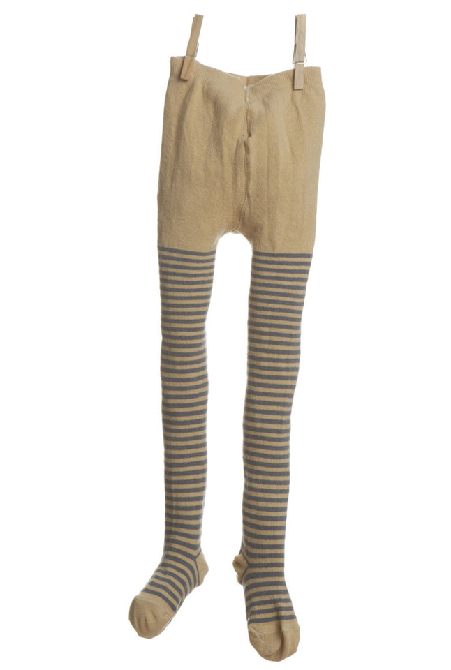 Children's Tights - Mustard/Grey Stripe - Palava
