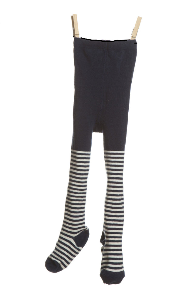 Children's Tights - Navy/Cream Stripe - Palava