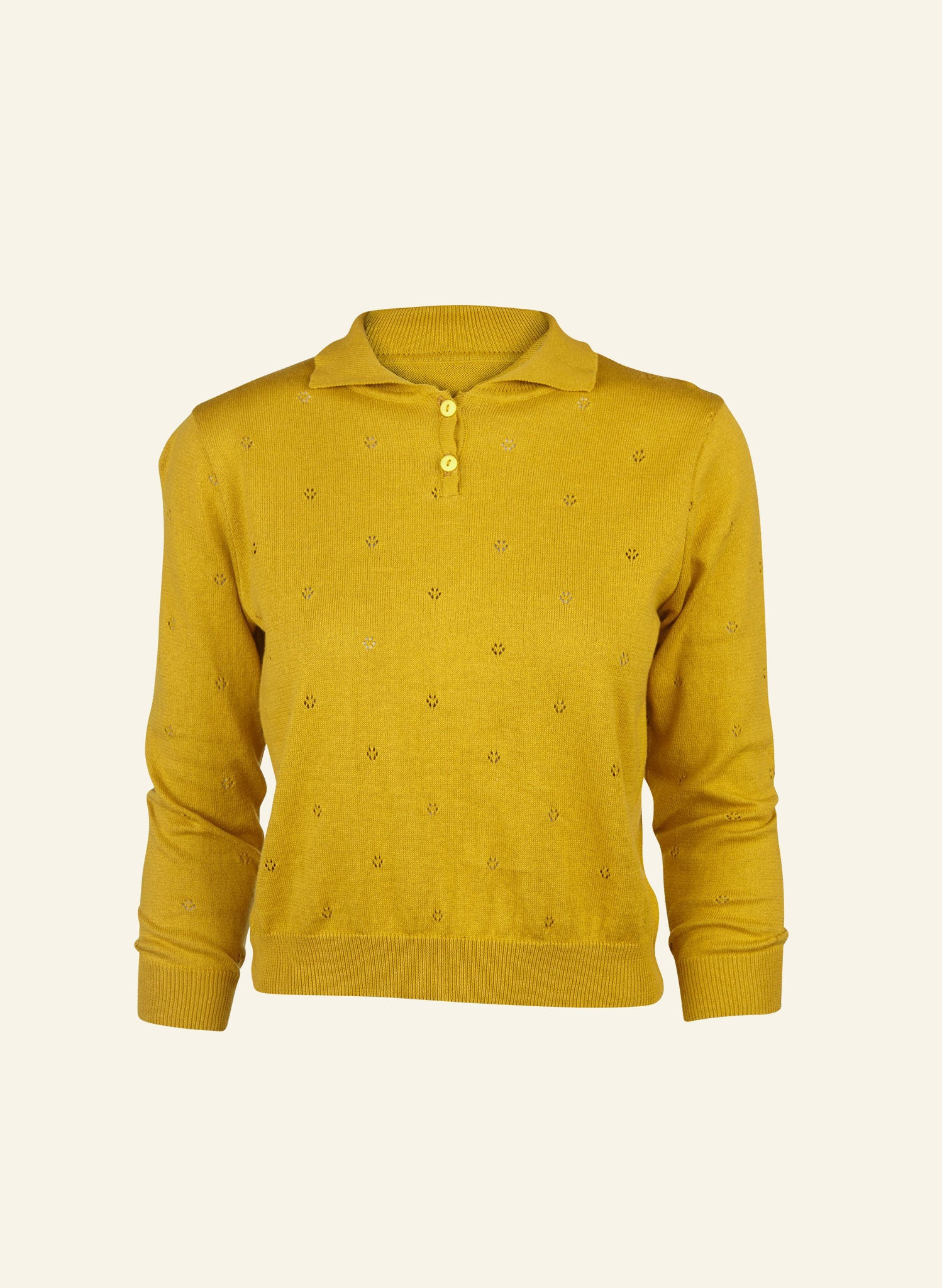 Aila - Mustard - Knitted Top