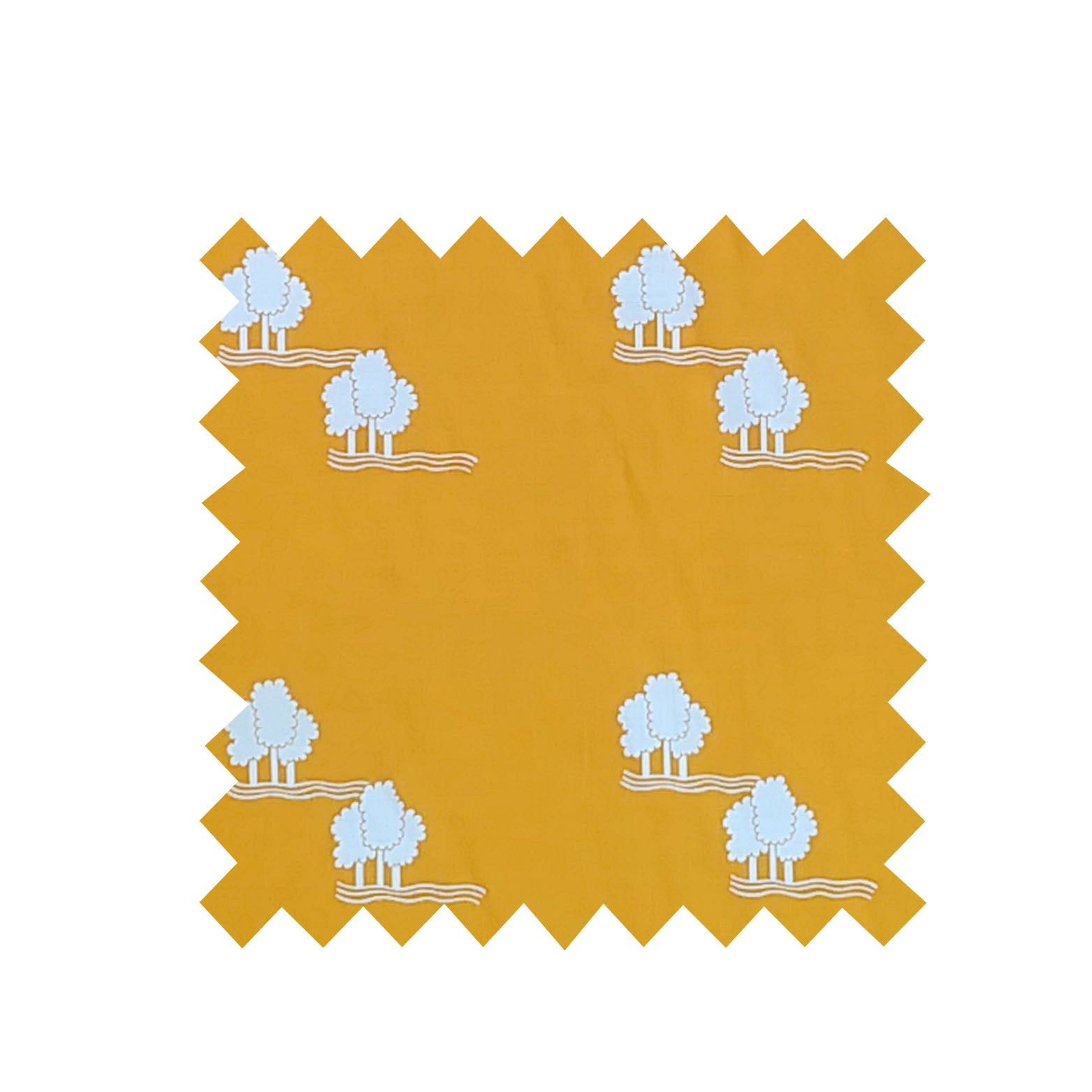 Yellow Trees Fabric