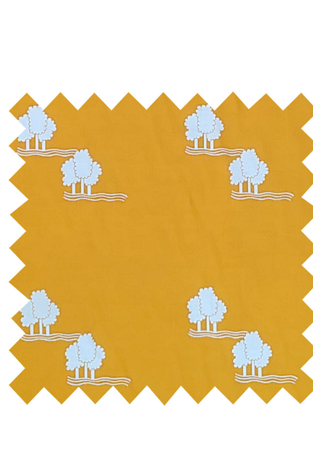 Yellow Trees Fabric - Cotton