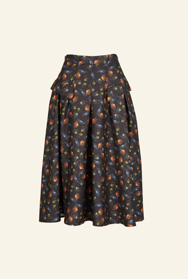 Veronica - Black Fireworks Skirt - 100% Tencel