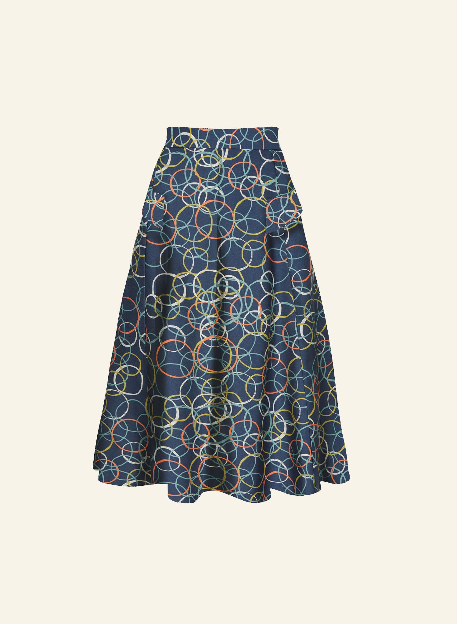 Veronica - Blue Atomic Skirt - 100% Tencel