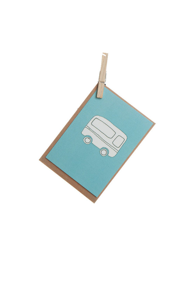 Greeting Card - Blue Caravan