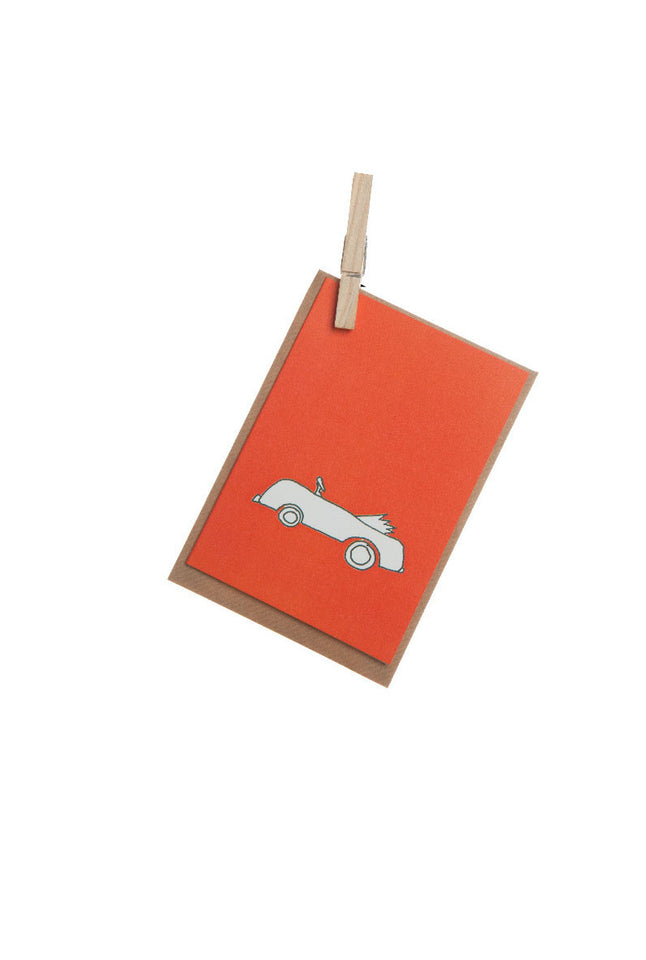 Greeting Card - Red Car - Palava