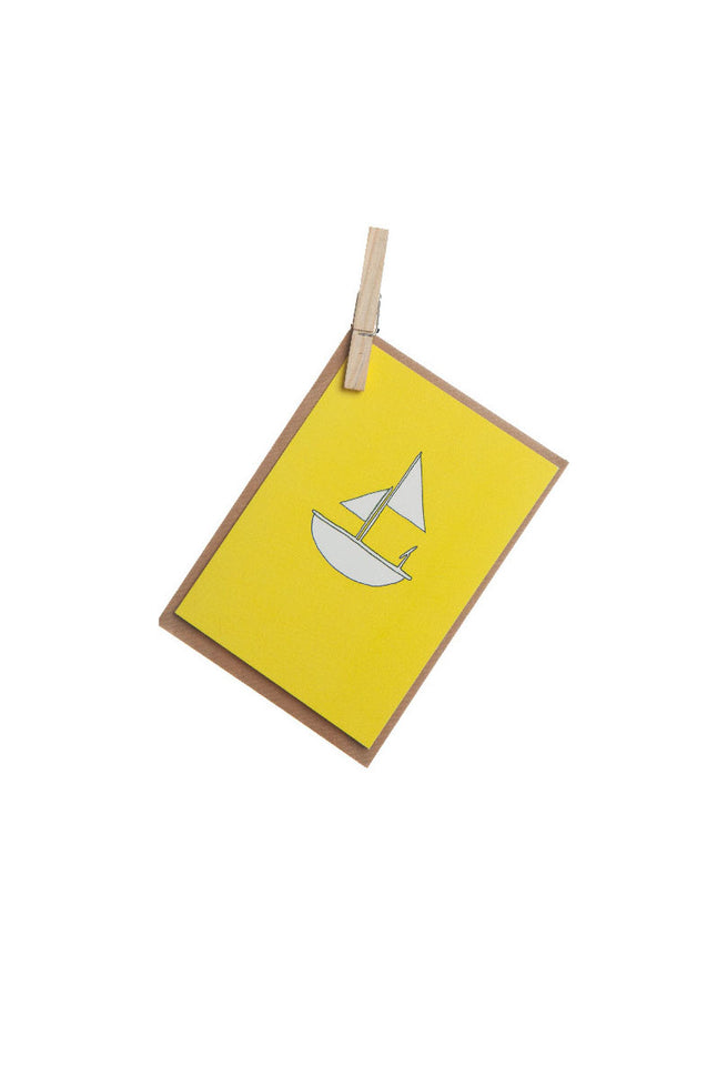 Greeting Card - Yellow Boat