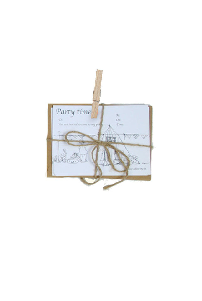 Colour in Cards - Party Invitation