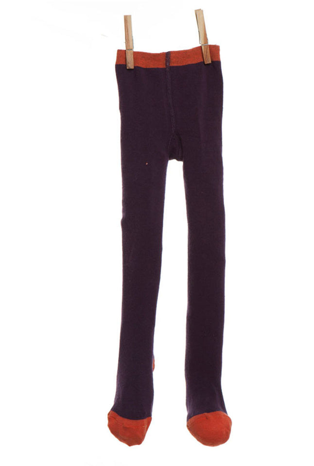 Children's Tights - Plum Plain - Palava