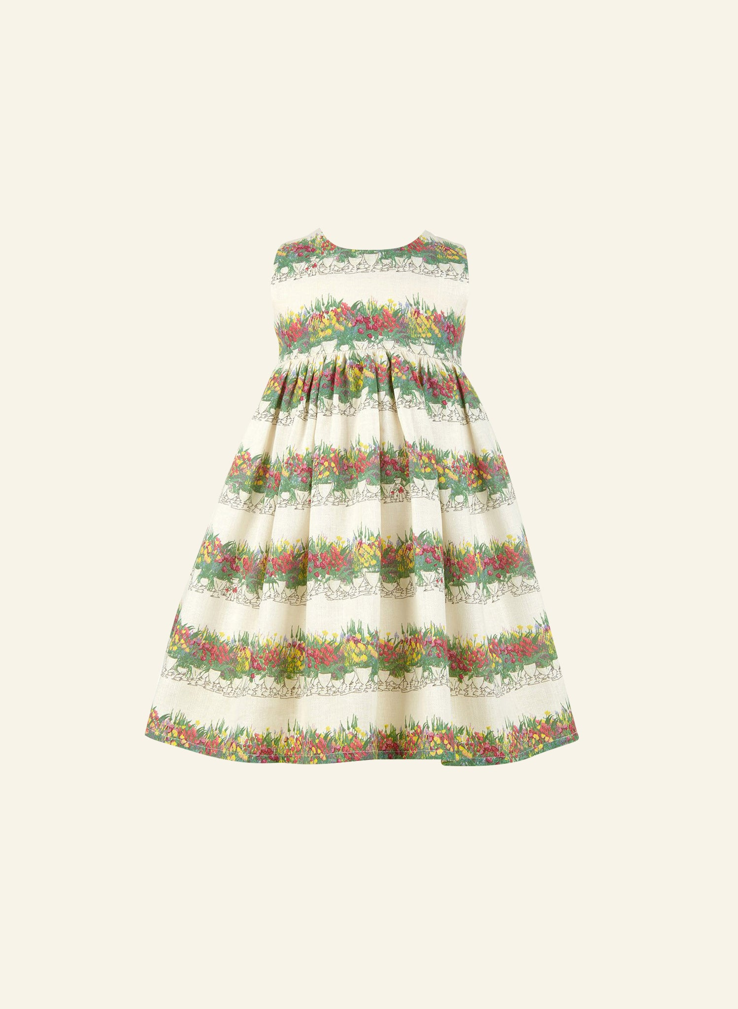 Rosie - Linen Flowerpots Children's Dress
