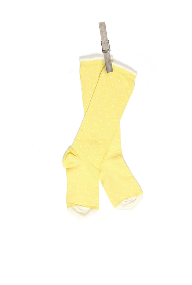 Children's Socks - Lemon Polka Dot