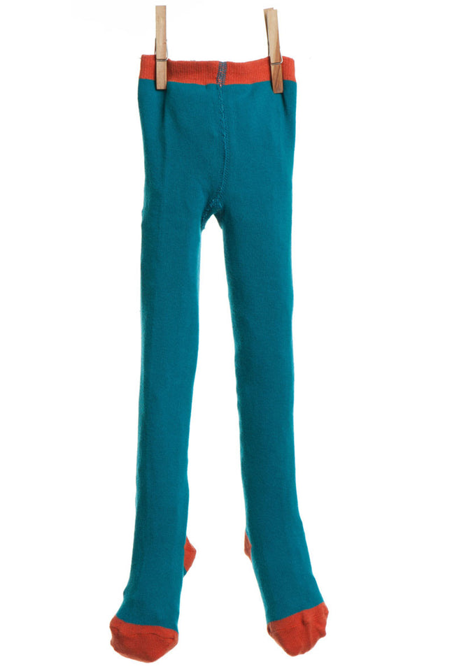 Children's Tights - Teal Plain - Palava