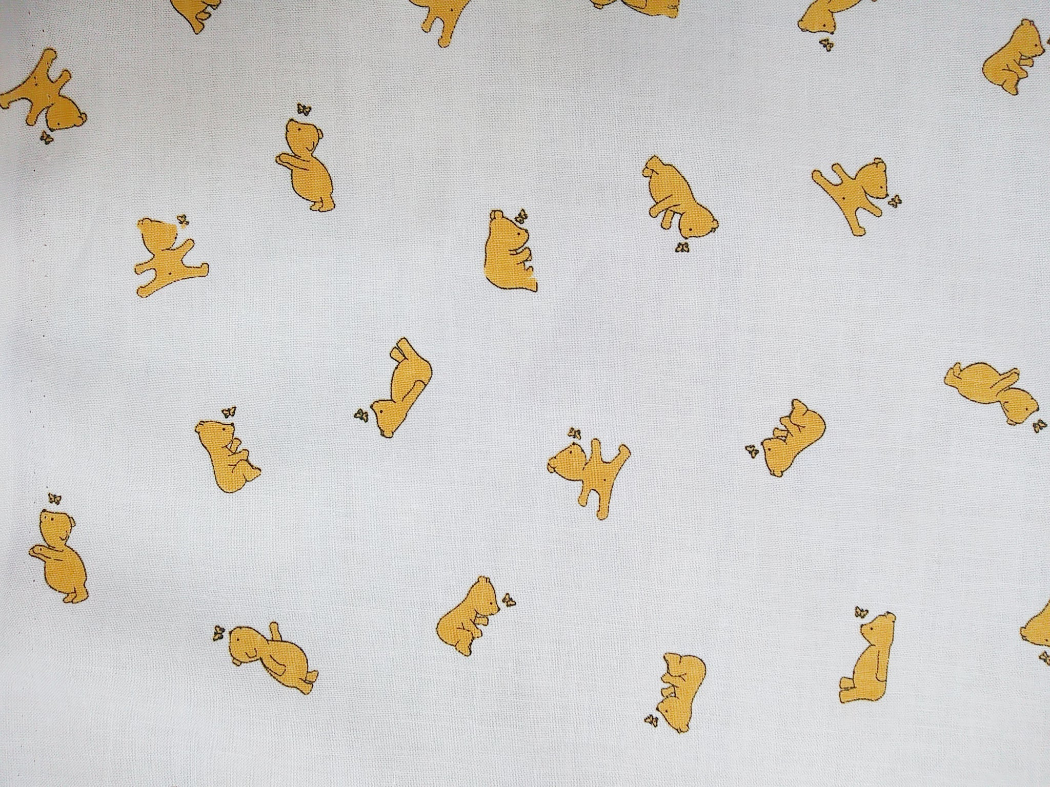Little Yellow Bear Fabric - Cotton
