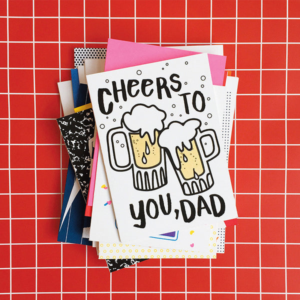 screen printed greeting cards for mom and dad