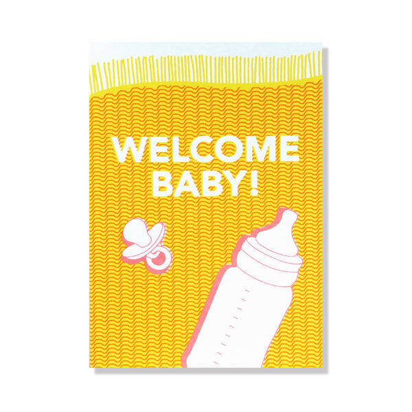 baby blanket new baby card