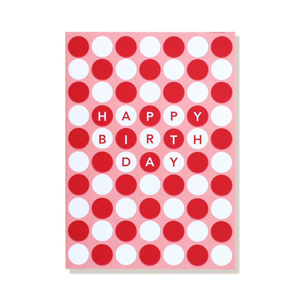 anne and kate birthday card pink dots
