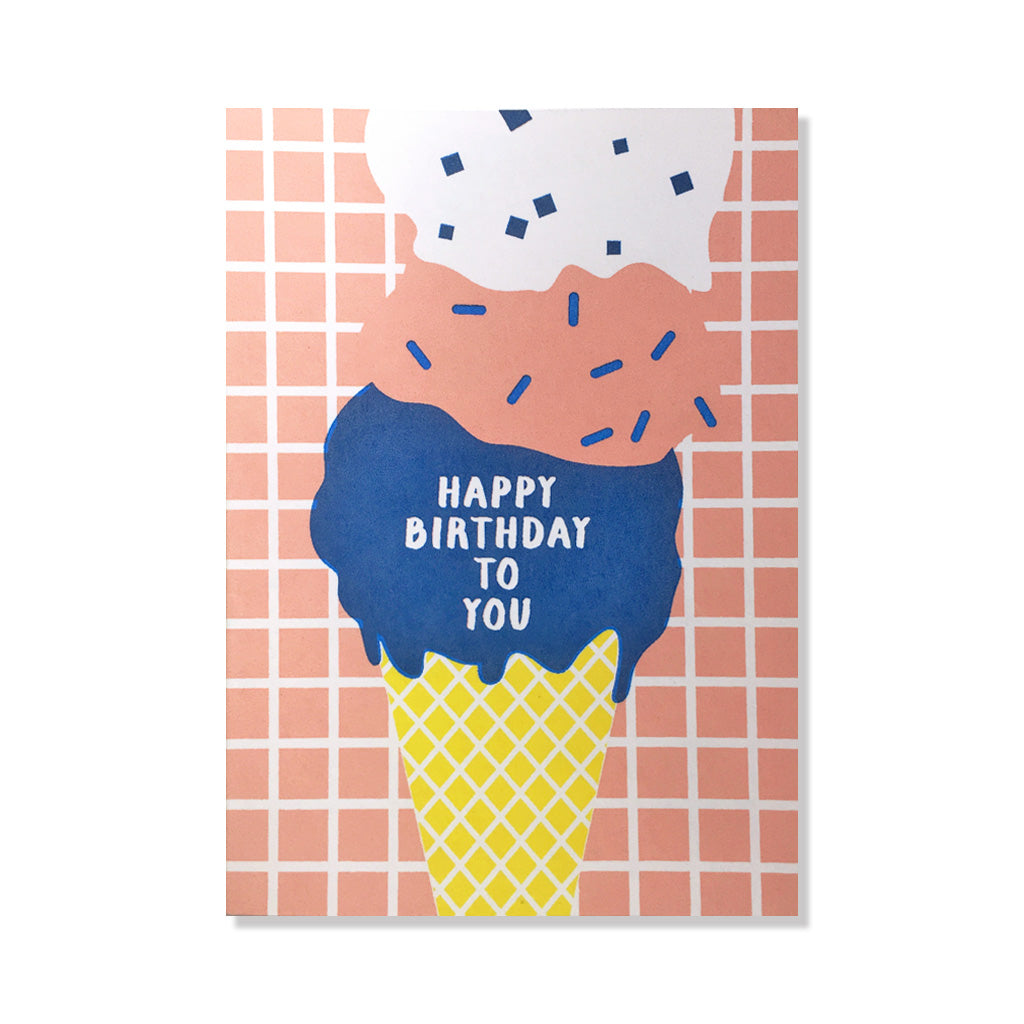 anne and kate birthday card ice cream