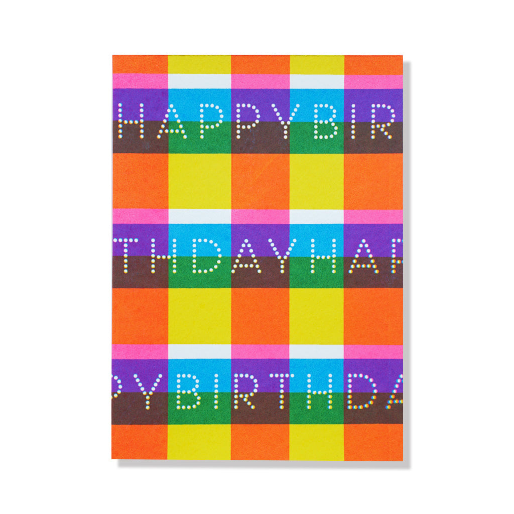 anne and kate birthday card bright plaid