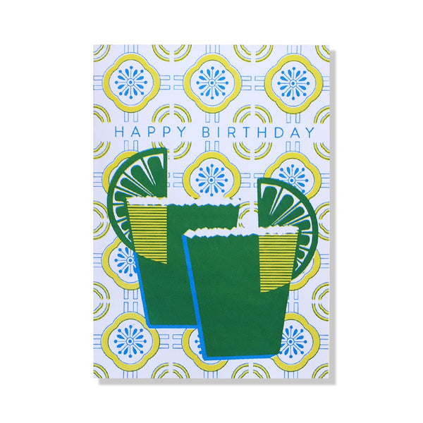 anne and kate birthday card margaritas