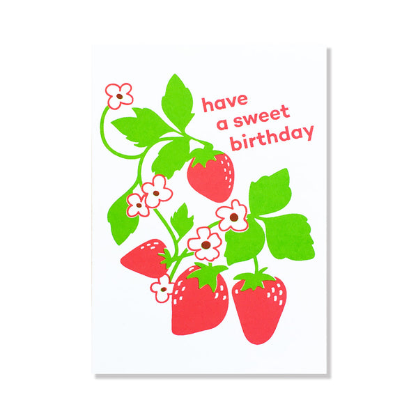 anne and kate birthday card sweet strawberry