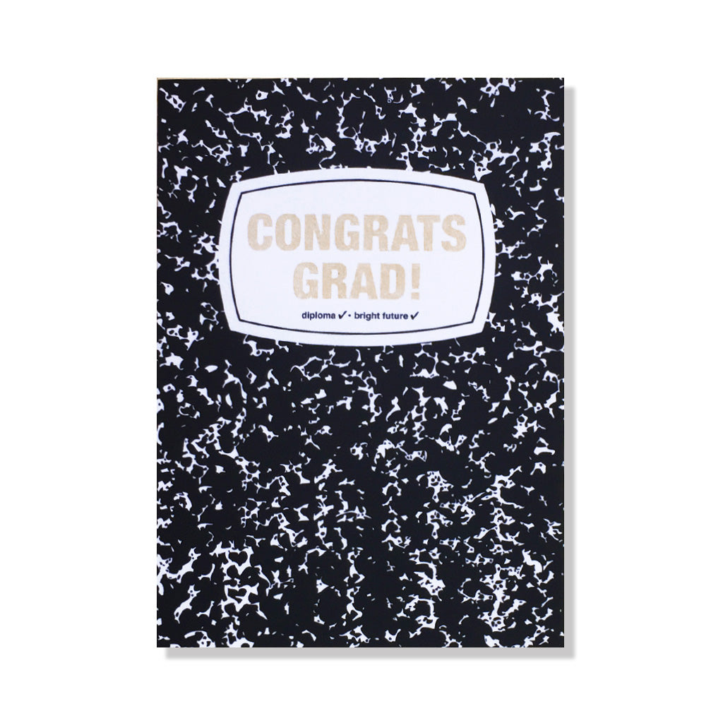 graduation notebook card