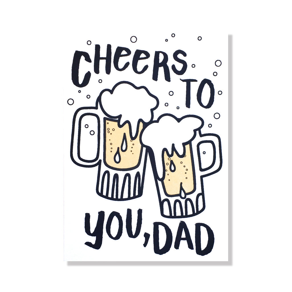 cheers beers dad father's day card