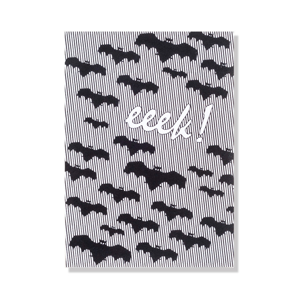 Eeek Bats Halloween Greeting Card