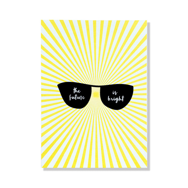 future is bright graduation card