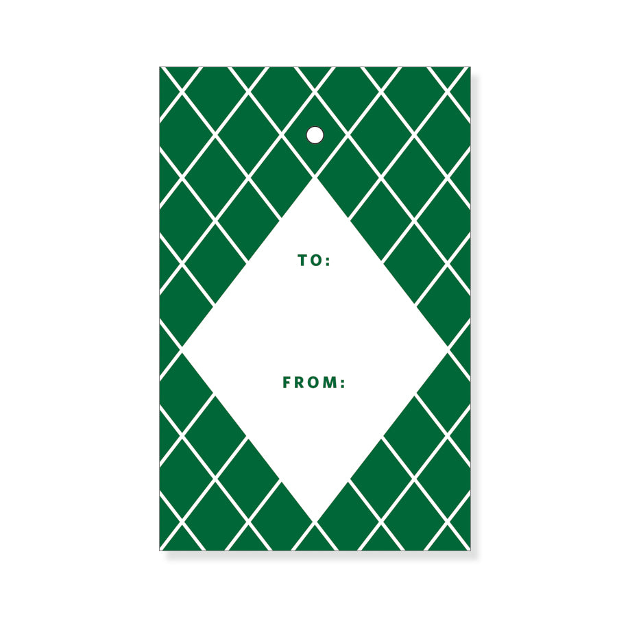 Green Diamond Gift Tags