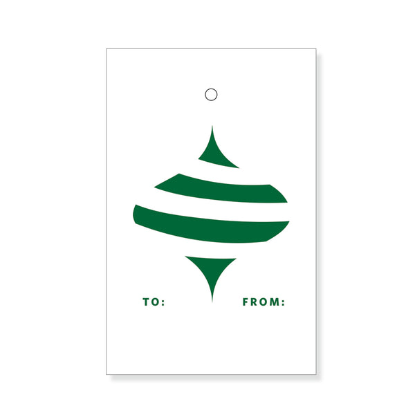 Green Ornament Gift Tags
