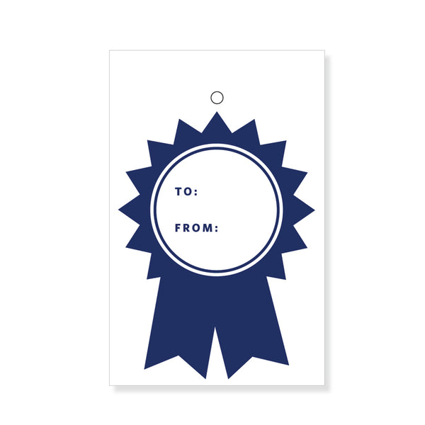 Indigo Ribbon Gift Tags