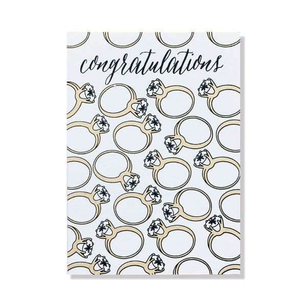 engagement rings greeting card