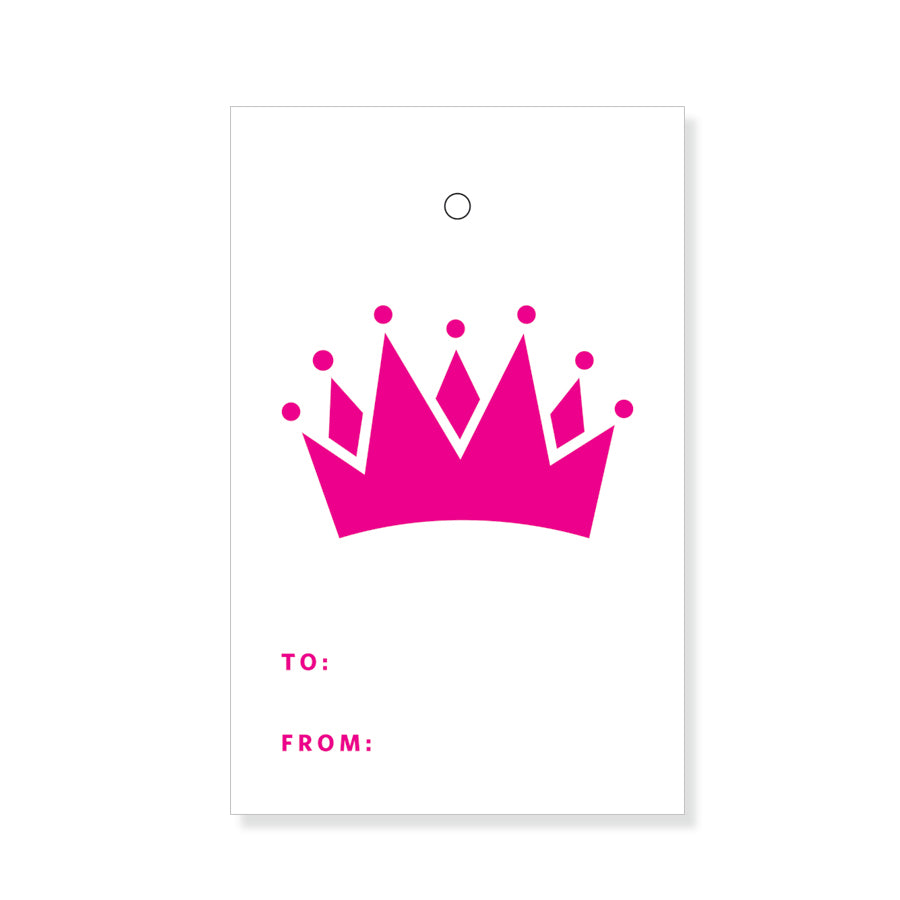 Pink Crown Gift Tags
