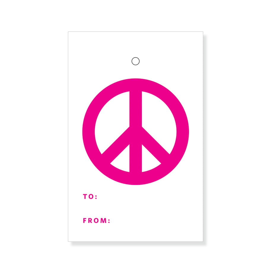 Pink Peace Gift Tags