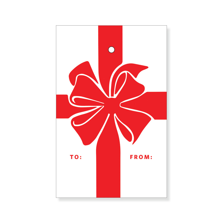Red Bow Gift Tags