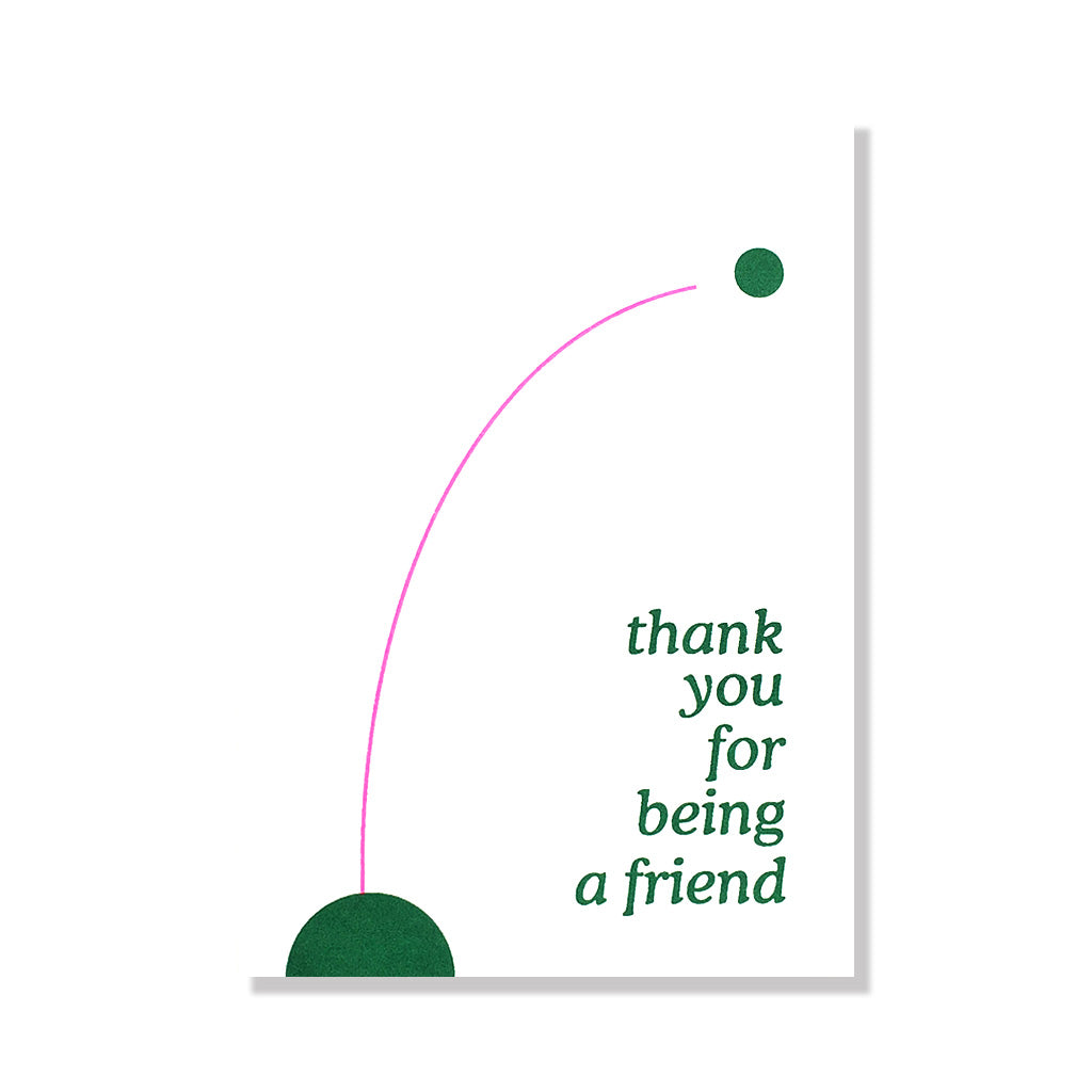 thank you for being a friend thank you card