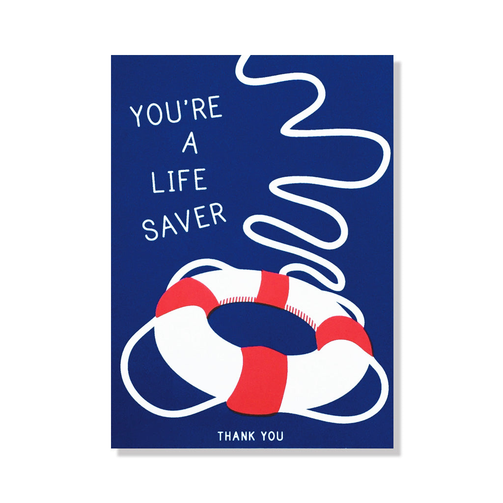 photograph relating to You're a Lifesaver Printable identified as Thank By yourself Everyday living Saver - Card
