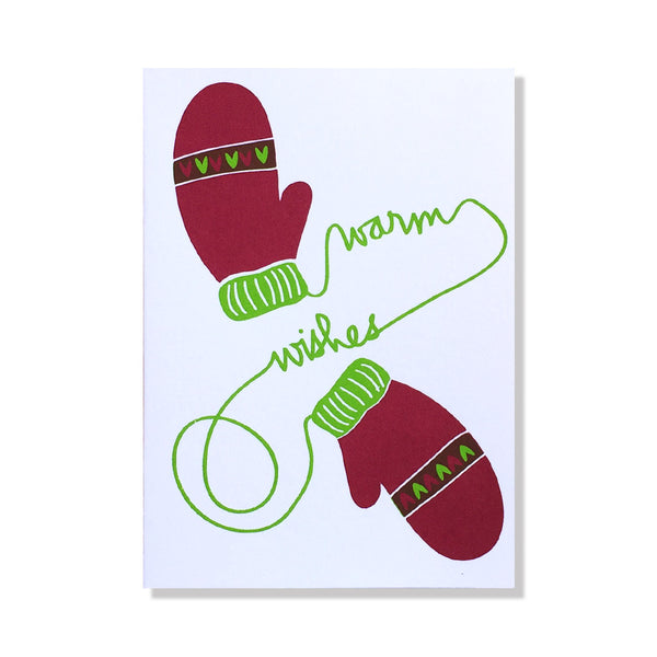 Warm Wishes Mittens Holiday Cart