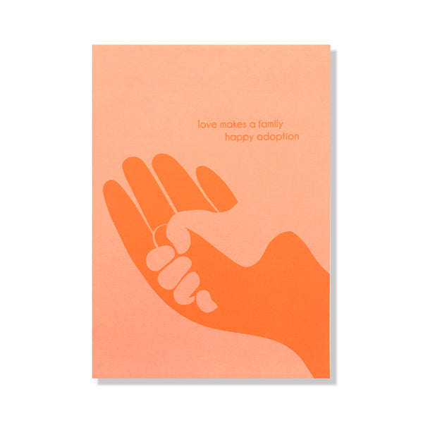 Love Makes a Family Adoption Card