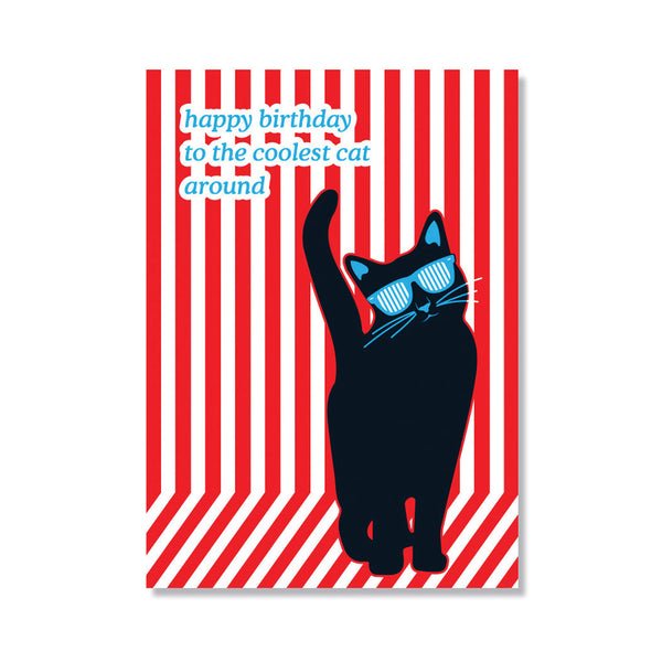 Cool Cat Birthday Card