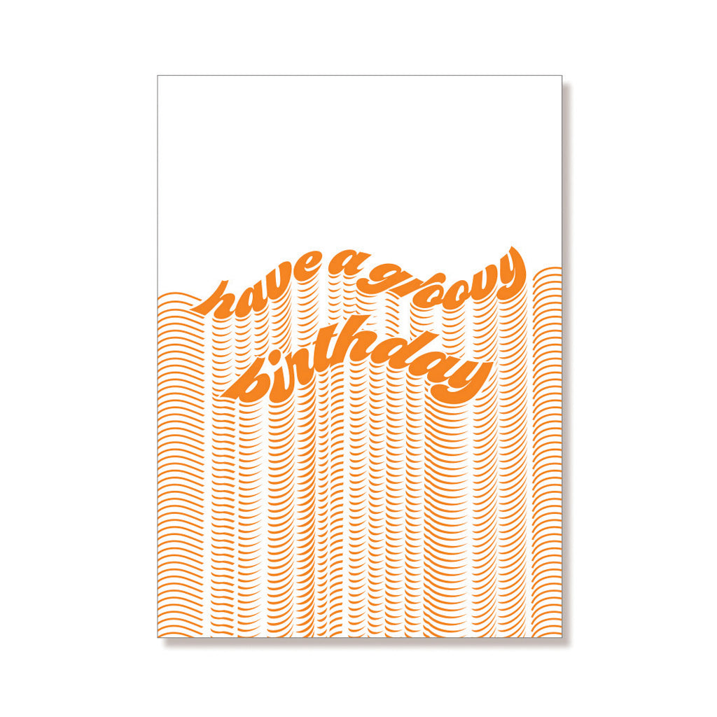 Groovy Birthday Card