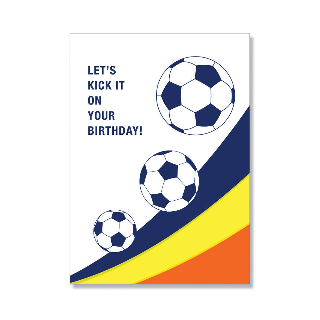 soccer birthday card anne and kate screen printed stationery and