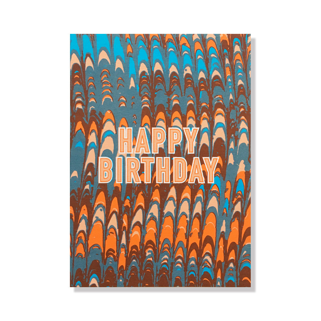 marbelized birthday card