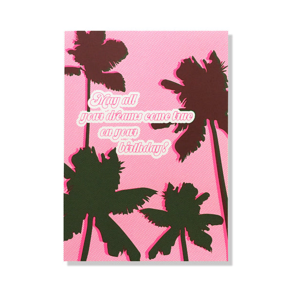 palm tree dreams birthday card