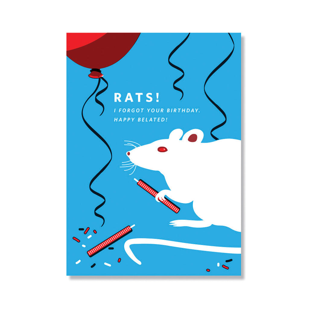 Rats! Belated Birthday Card