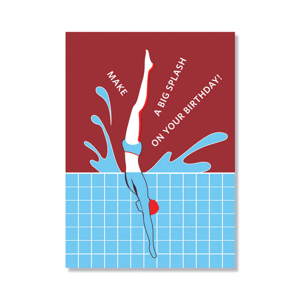 Big Splash Birthday Card
