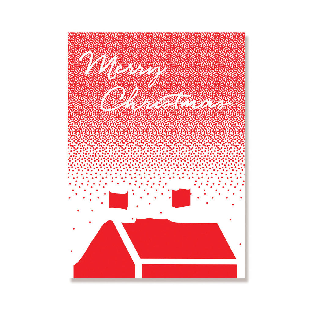 Snowy Rooftop Card